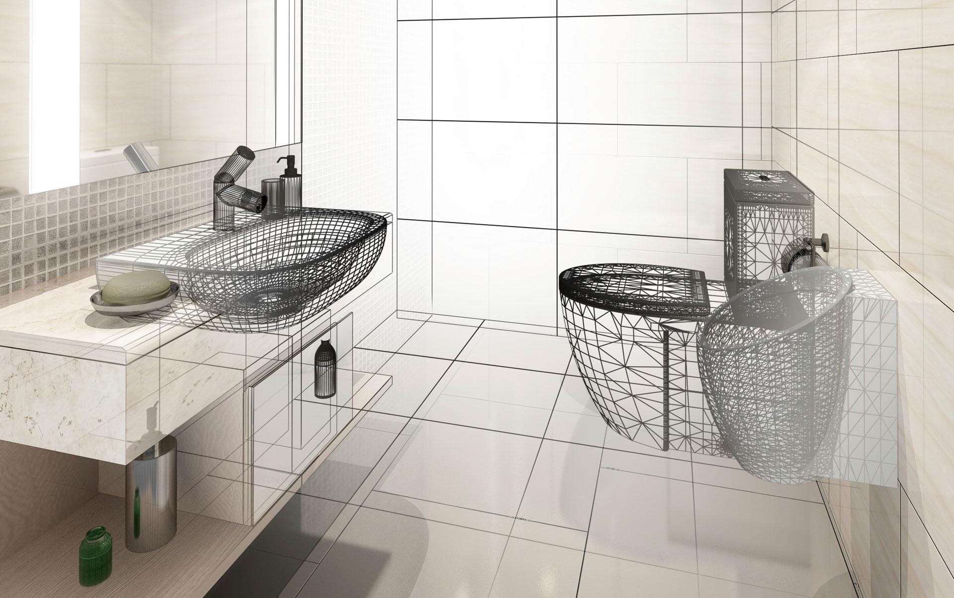 Guida ristrutturazione del bagno 2015 tecnici professione - Ristrutturazione del bagno ...