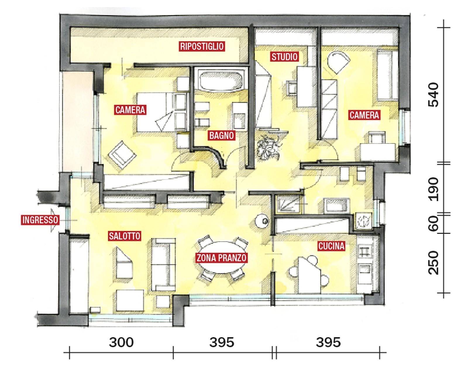 Progettiamo gli spazi tecnici professione for Programma per disegnare piantina casa